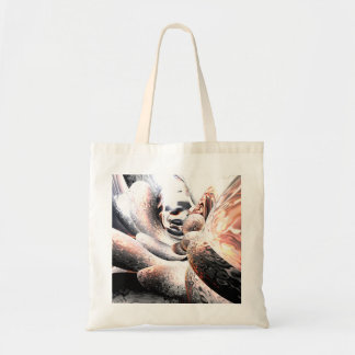 Fire Water Abstract Tote Bag