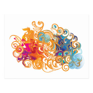 Fire &Water Chariot colourful contemporary card