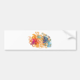 Fire &Water Chariot colourful contemporary drawing Bumper Sticker