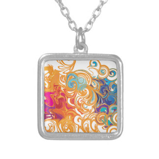 Fire &Water Chariot colourful contemporary drawing Pendant