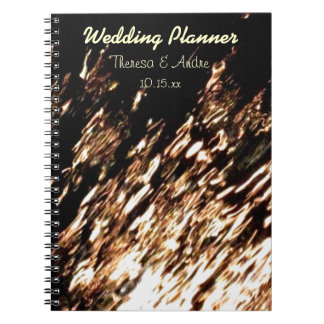 Fire Water Personalized Wedding Planner Spiral Notebook
