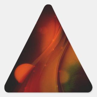 Fire Wave Triangle Sticker