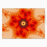 Fire Web - Fractal Art Card