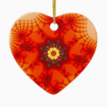Fire Web - Fractal Art Ceramic Ornament