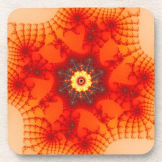 Fire Web - Fractal Art Coaster