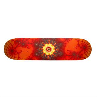 Fire Web - Fractal Art Skateboard Deck