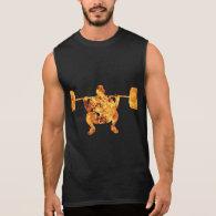 Fire Weight Lifting GYM Dark T-shirt