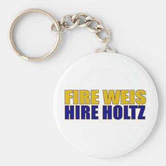 Fire Weis Hire Holtz Basic Round Button Keychain