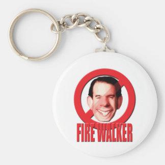 Fire Wisconsin Governor Scott Walker Keychain