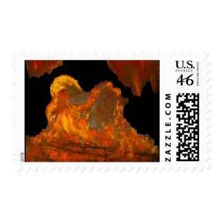 Fire with Jester Oil Painting Stamps