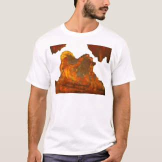 Fire with Jester Oil Painting T-Shirt