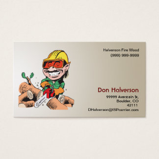 Fire Wood Business Card