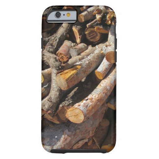 Fire Wood Fall Autumn Patterns Tough iPhone 6 Case