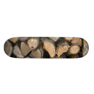 Fire wood skateboard