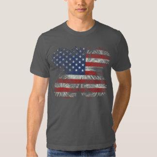 Fire Works Flag T-shirt