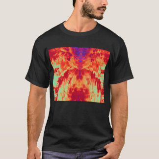 Fire Zombie Kissing His Own Reflection by KLM T-Shirt