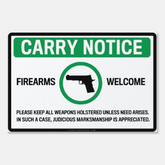 Firearm Friendly Signs
