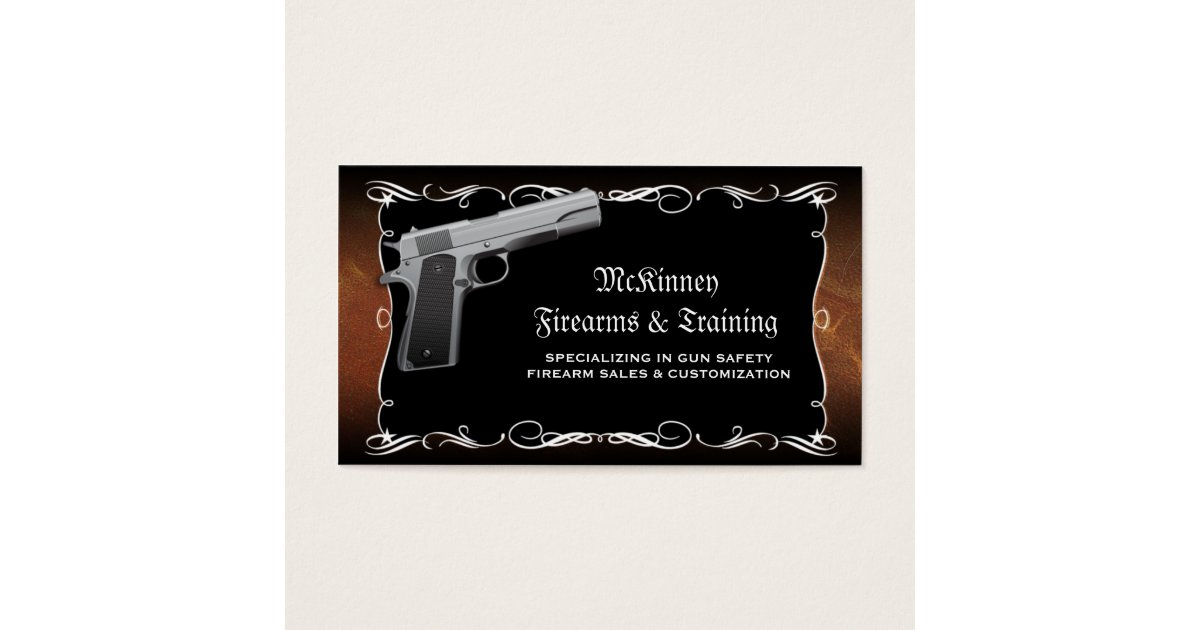 Firearm Gunsmith Gun Shop Business Cards | Zazzle.com