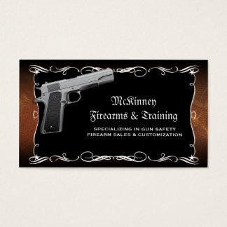Firearm Gunsmith Gun Shop Business Cards