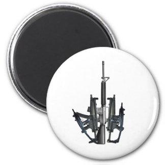 Firearm Middle Finger 2 Inch Round Magnet