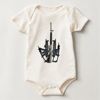 Firearm Middle Finger Baby Bodysuit