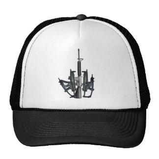 Firearm Middle Finger Hats