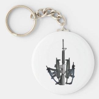 Firearm Middle Finger Keychain