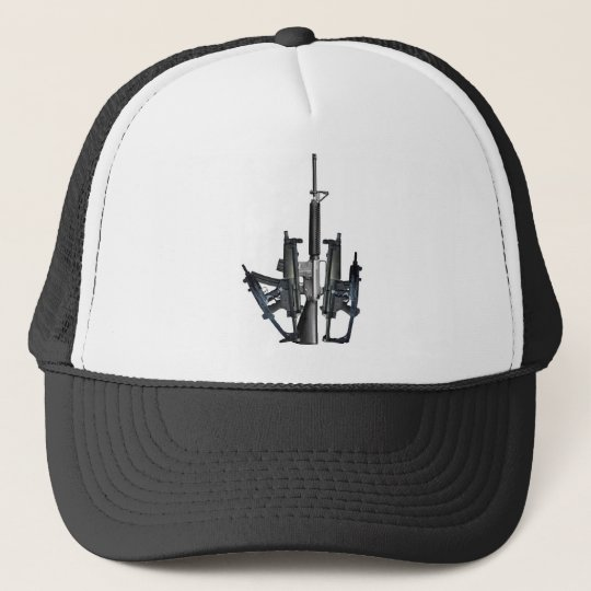 Firearm Middle Finger Trucker Hat