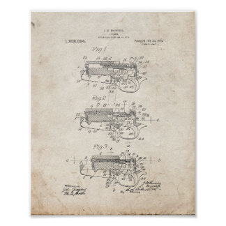 Firearm Patent - Old Look Poster