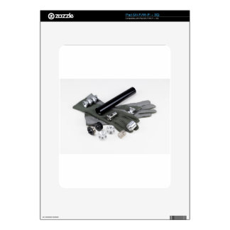 Firearm Suppressor Silencer with Military Gloves Decal For iPad