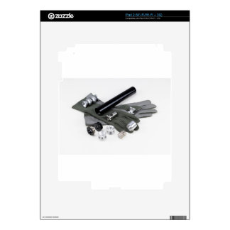 Firearm Suppressor Silencer with Military Gloves Decals For The iPad 2