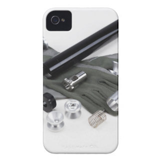 Firearm Suppressor Silencer with Military Gloves iPhone 4 Cover