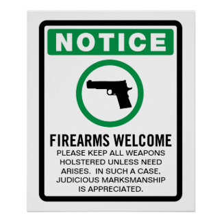 Firearms Allowed Poster