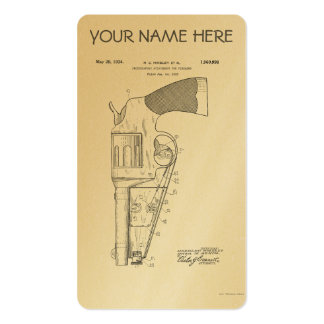 Firearms attachment patent - circa 1934 business card