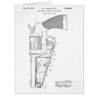 Firearms attachment patent - circa 1934 card