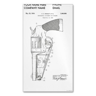 Firearms attachment patent - circa 1934 magnetic business card