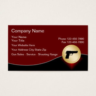 Firearms Business Cards