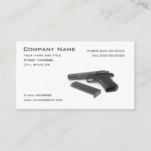 979ae27b Firearms Dealer Business Card