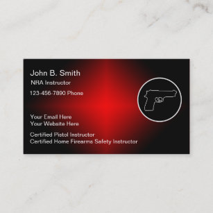 Firearms gifts on zazzle firearms instructor business cards colourmoves
