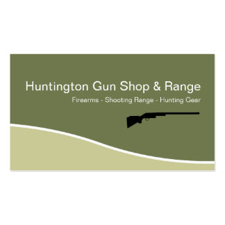 Firearms Shooting Range Business Cards