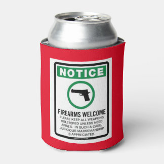 FIREARMS WELCOME CAN COOLER