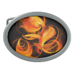 Fireball Abstract Art Belt Buckle
