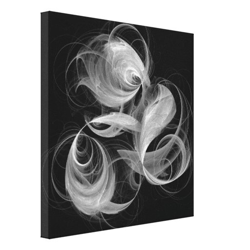 Fireball abstract art black and white canvas print zazzle Black and white canvas art