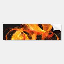 fireball, abstract, art, bumper, sticker, Bumper Sticker with custom graphic design
