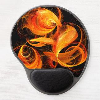 Fireball Abstract Art Gel Mousepad