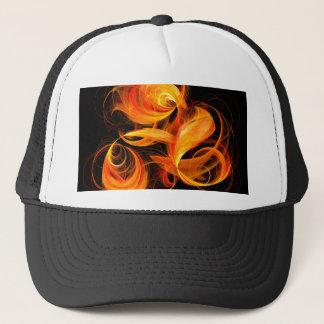 Fireball Abstract Art Hat