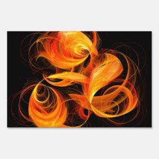 Fireball Abstract Art Lawn Sign