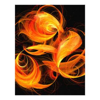 Fireball Abstract Art Letterhead