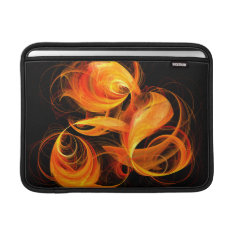 Fireball Abstract Art Macbook Air Macbook Air Sleeve at Zazzle