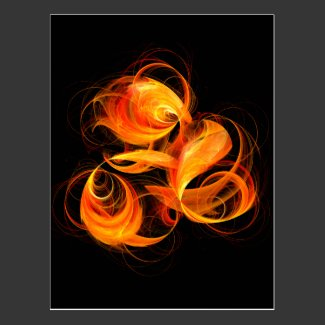 Fireball Abstract Art Postcard